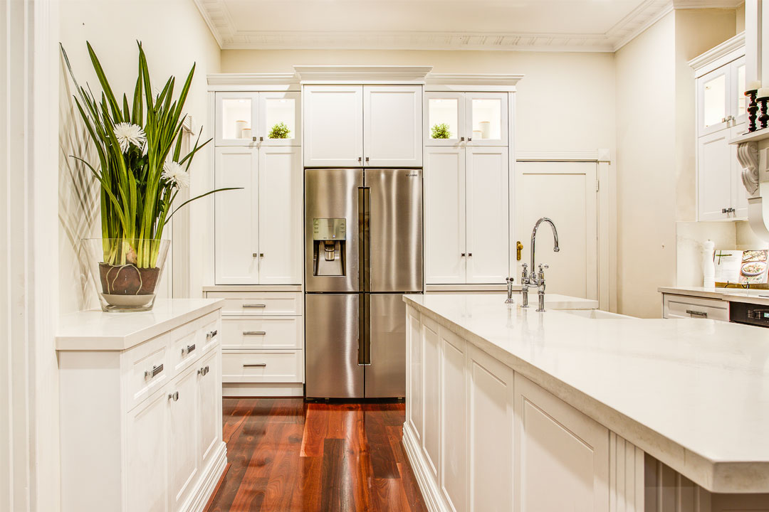 Town & Country Designs hamptons style kitchen kitchen island with sink